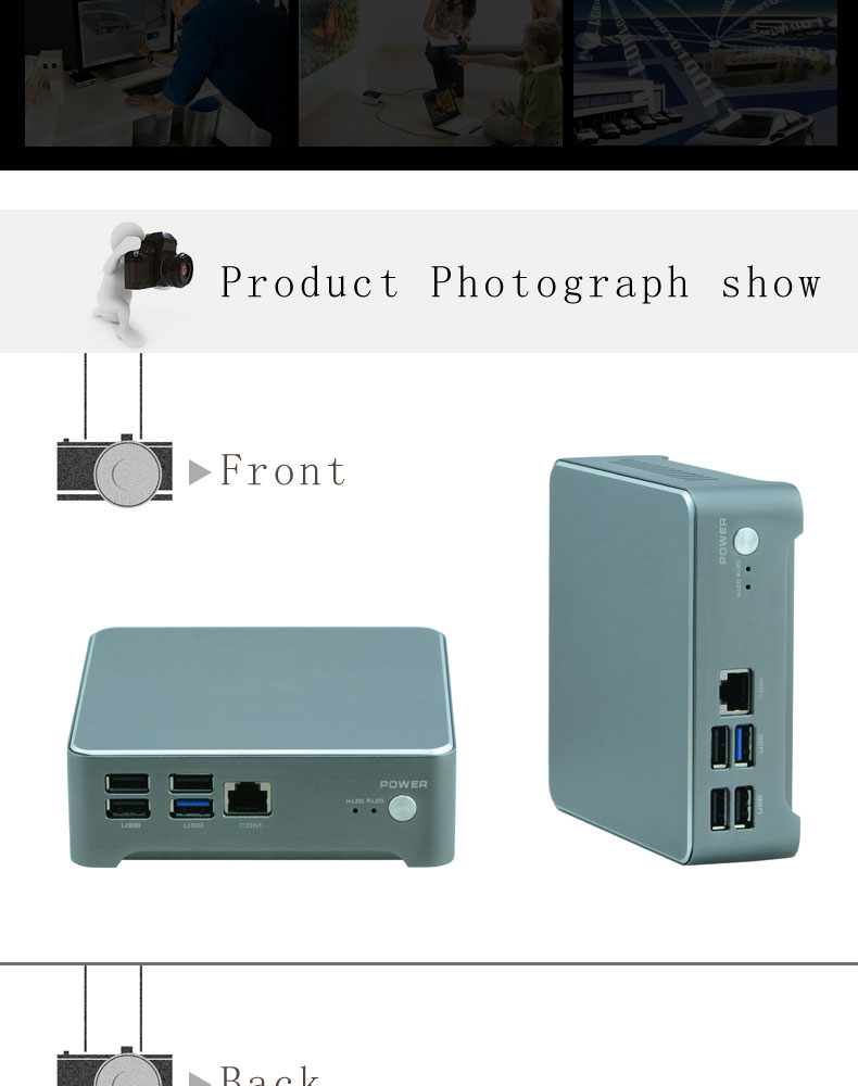 10W low power consumption high performance Win10 mini PC Core i5 portable computer