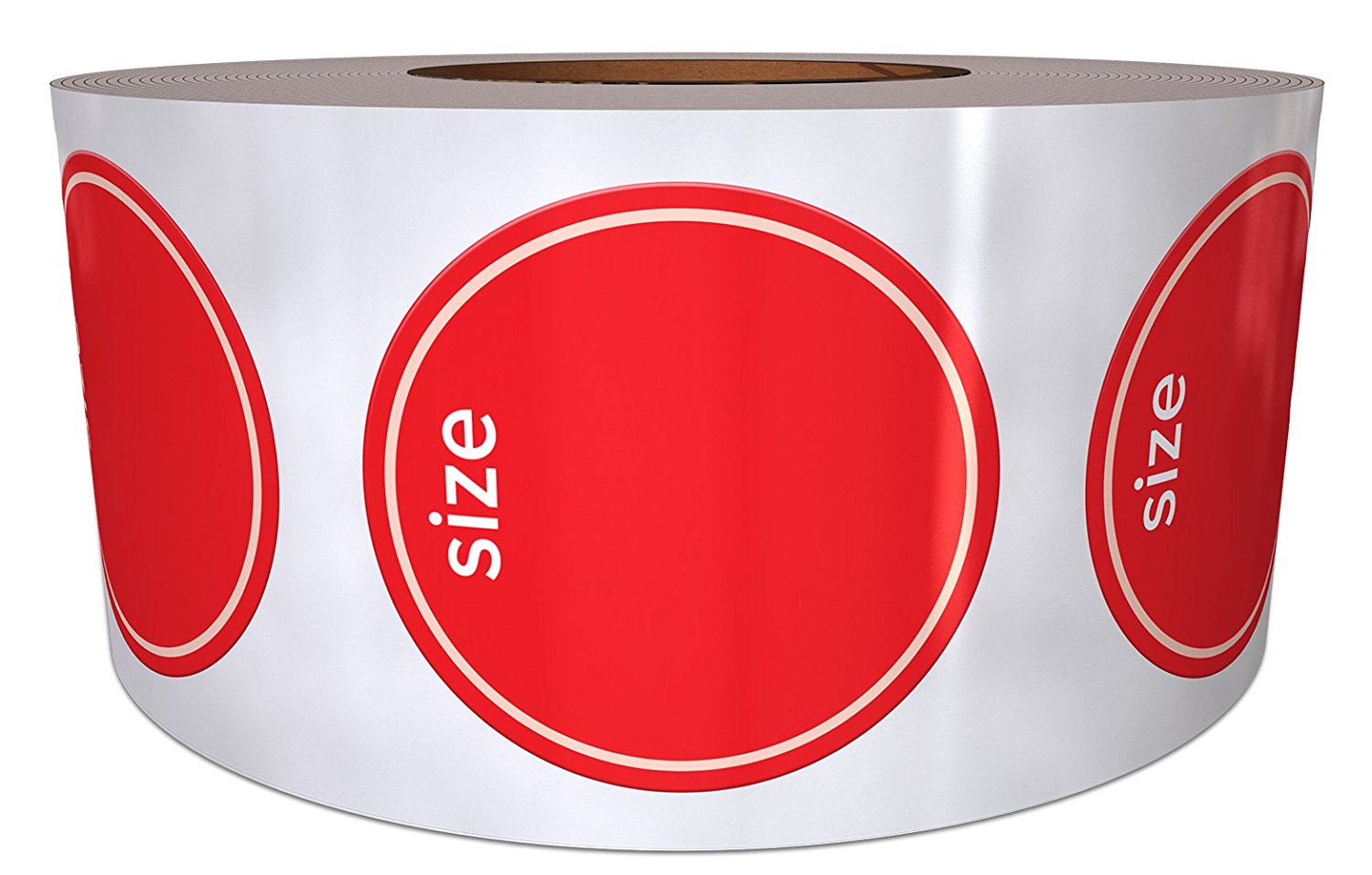 """3/4"""" Modern Shoe Size Stickers (Size____) - 500 Labels Per Roll – Labels for Retail – Shoe Size Labels"""
