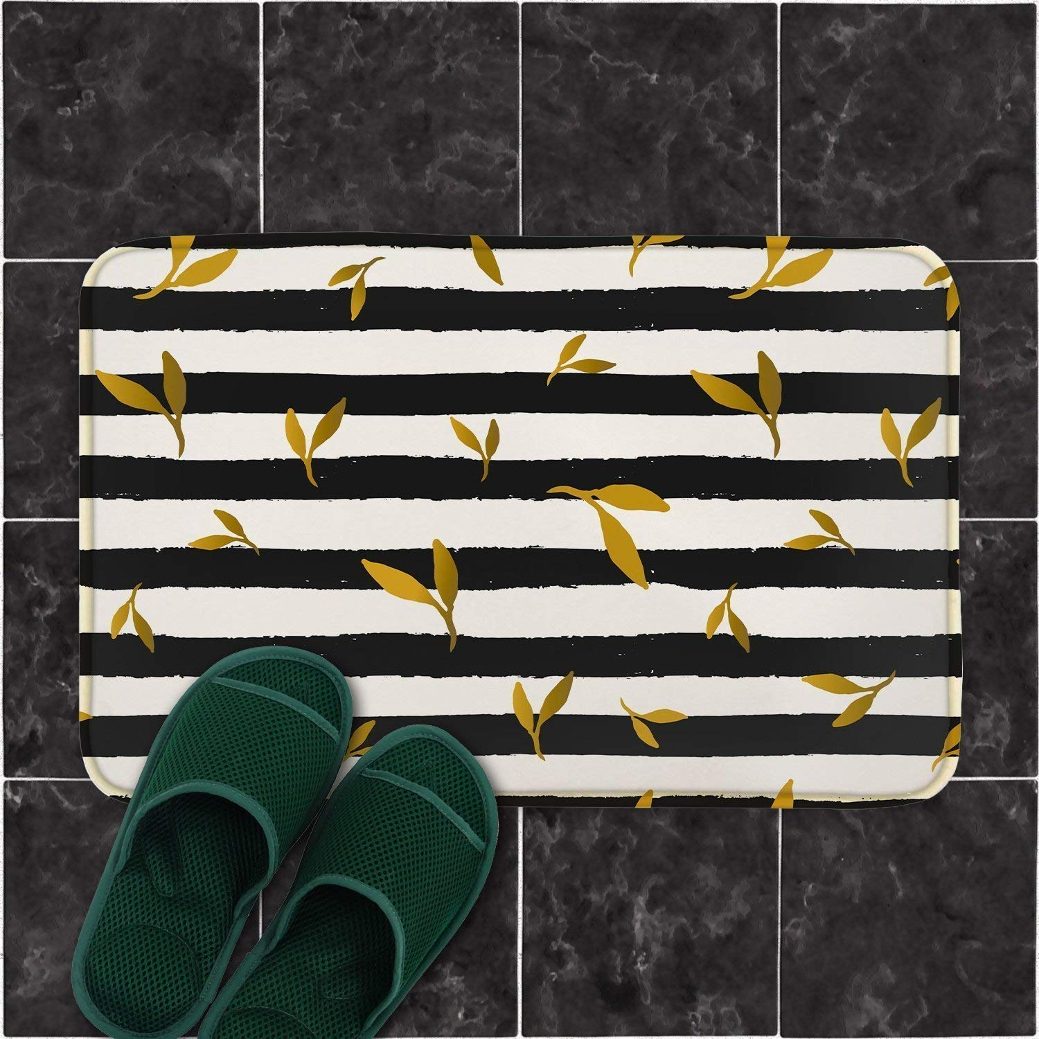 af3b510bc292 Get Quotations · Striped Rugs Housewarming Gift Welcome Mat Guest Room  Decor Bedside Rug Dog Mat Bath Rug Striped