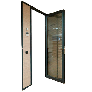 Office glass swing door with aluminum frame