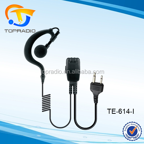 Topradio Ear Hook Earpiece for Motorola T200 T250 Walkie Talkie Earpiece for ICOM IC-F4 F10 F20 H2 H6 J12 Earphone for Vertex