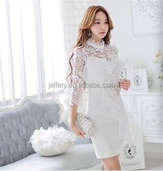 4699293f375 Изысканное женское вечернее платье из бисера белое кружевное платье с  длинными рукавами OEM service B109