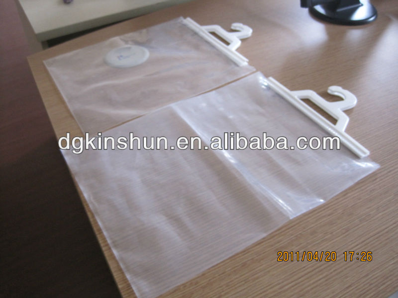 Plastic Hook Hanging Bag With Handle Clear Book Bags Product On Alibaba