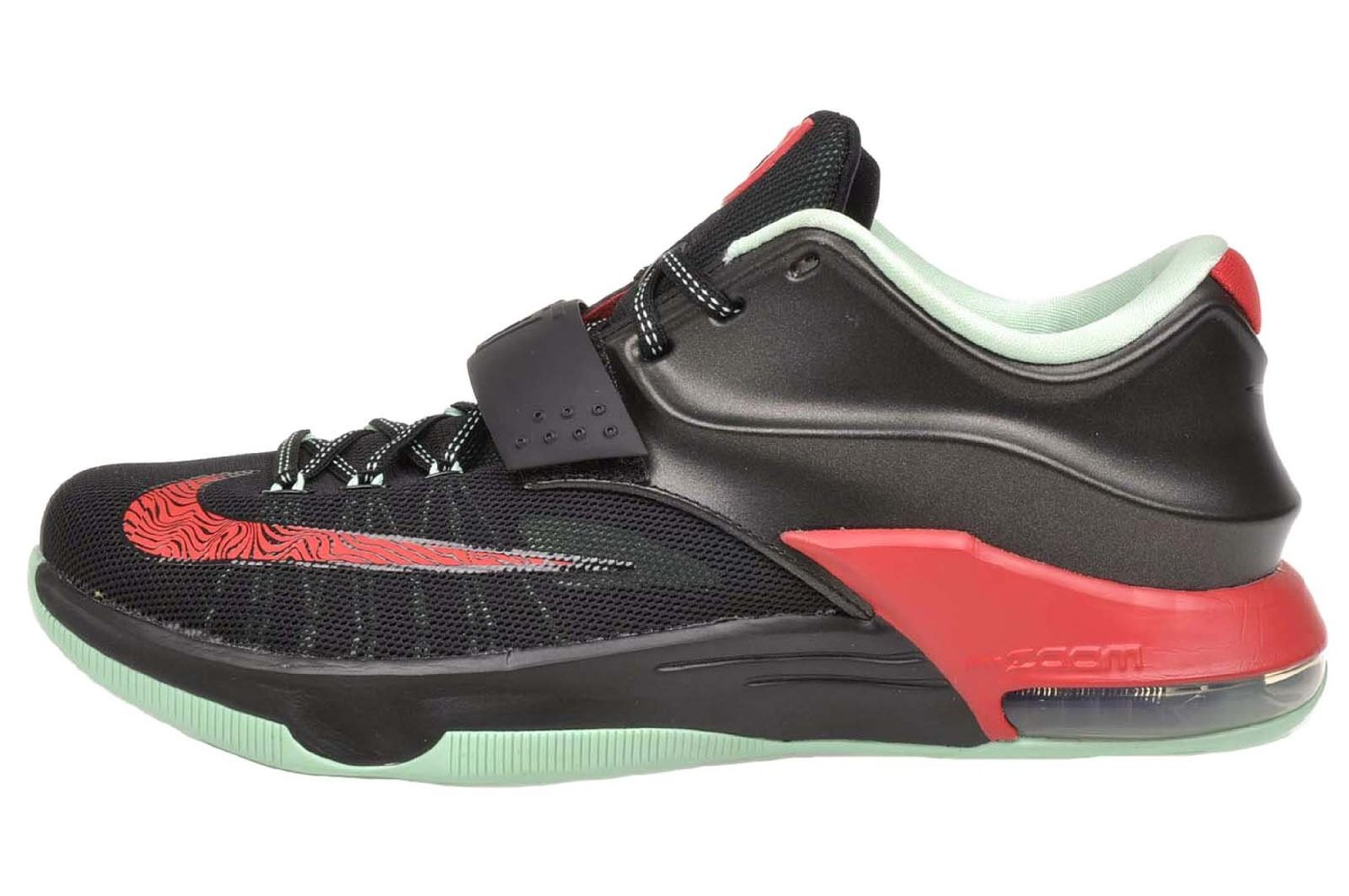 ae34fe50c035 Get Quotations · Nike KD VII Men Round Toe Synthetic Black Basketball Shoe