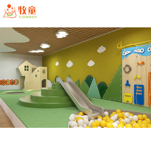 Modern style kids indoor activity room equipment rainbow net baby exercise gyms daycare school furniture children ball pool