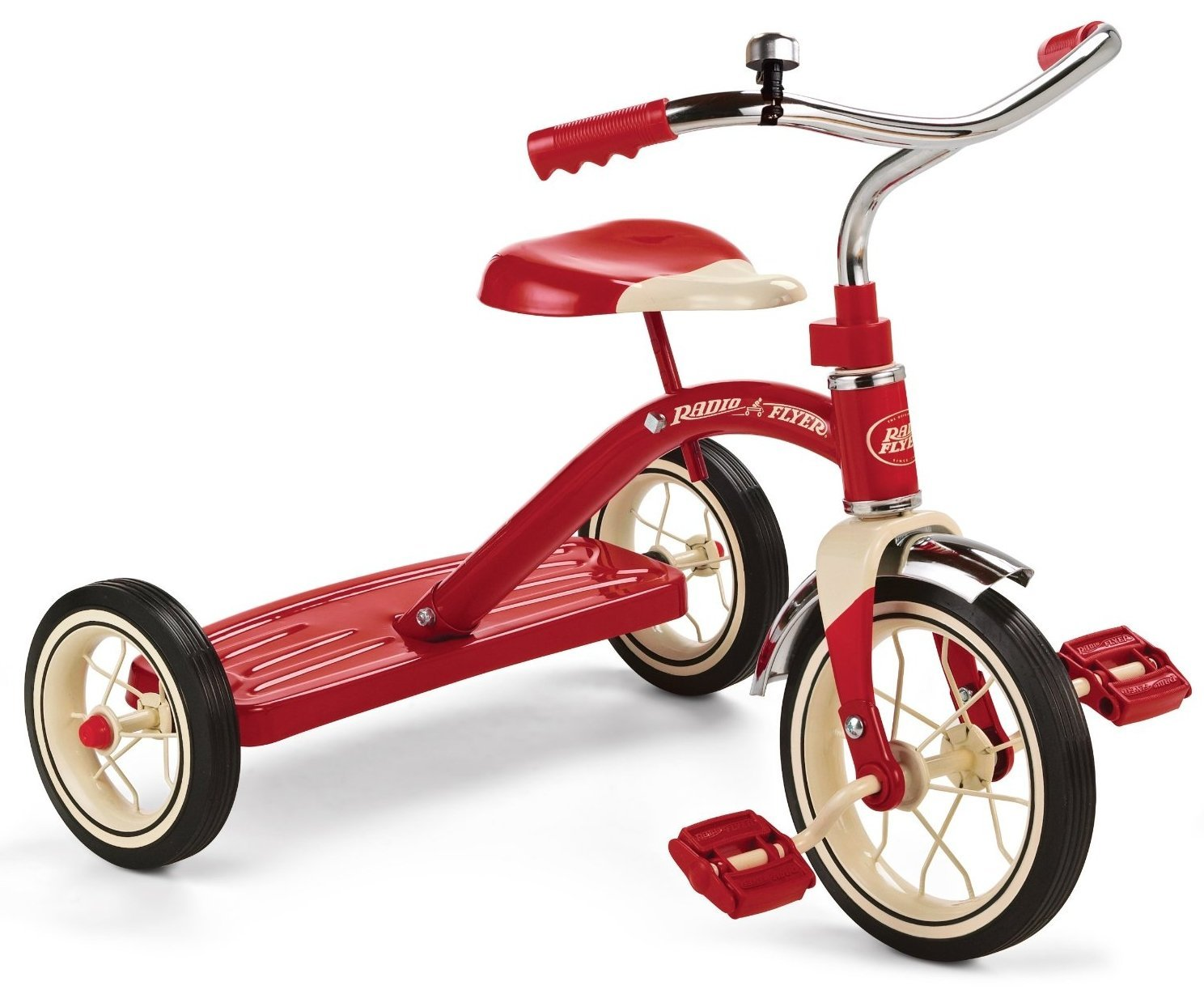 Radio Flyer Classic Red Tricycle, 10-Inch- Children's Tricyle- Sturdy Trike- Steel Construction- Durable Spoked Wheels