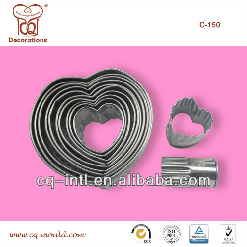 12 Heart Teeth Thick Stainless Steel Cookie Cutter