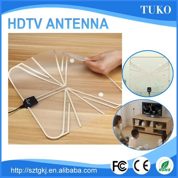 Factory Price Vhf Uhf Best Hdtv Homemade Tv Indoor Ultra Thin Hdtv Antenna  - Black/white - Buy Ultra Thin Hdtv Antenna - Black/white,Hdtv Homemade Tv