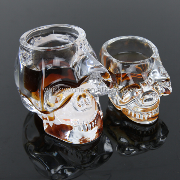 Modern 3D Crystal Skull glass cup Pirate Shot Glass Drink Cocktail skull Beer Cup