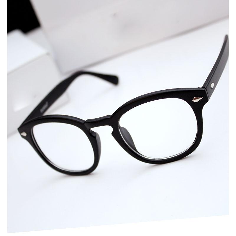 dc1e5589526 Get Quotations · Fashion unisex rivet black reading glasses women acetate  frame Ultralight plain eyeglasses nose pads glass