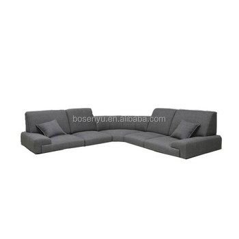 Long Corner Sofa With Movable Headrest