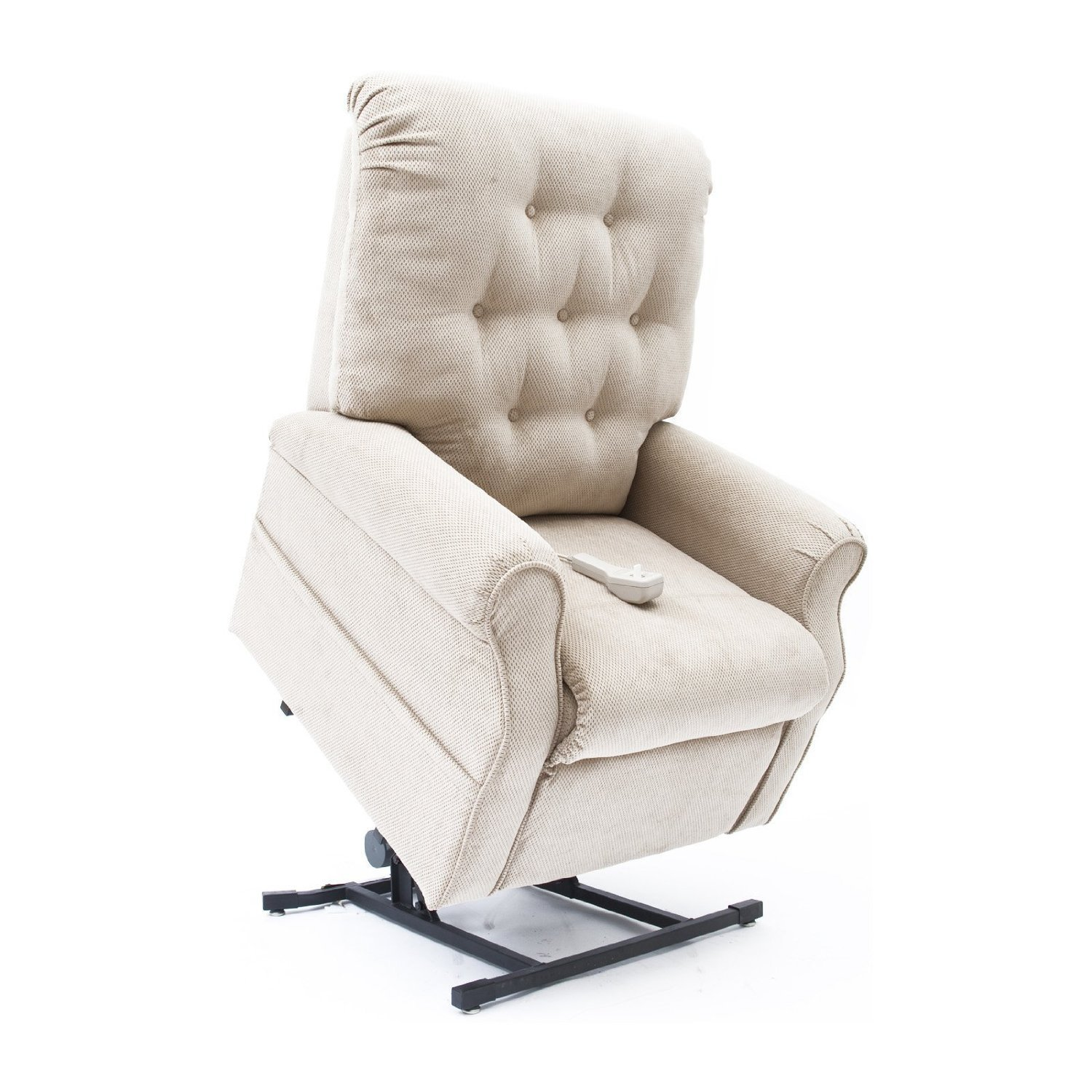 Easy Comfort 3-Position Reclining Power Electric Lift Chair Recliner with Inside Home Delivery and Setup - Fawn Tan Color Fabric