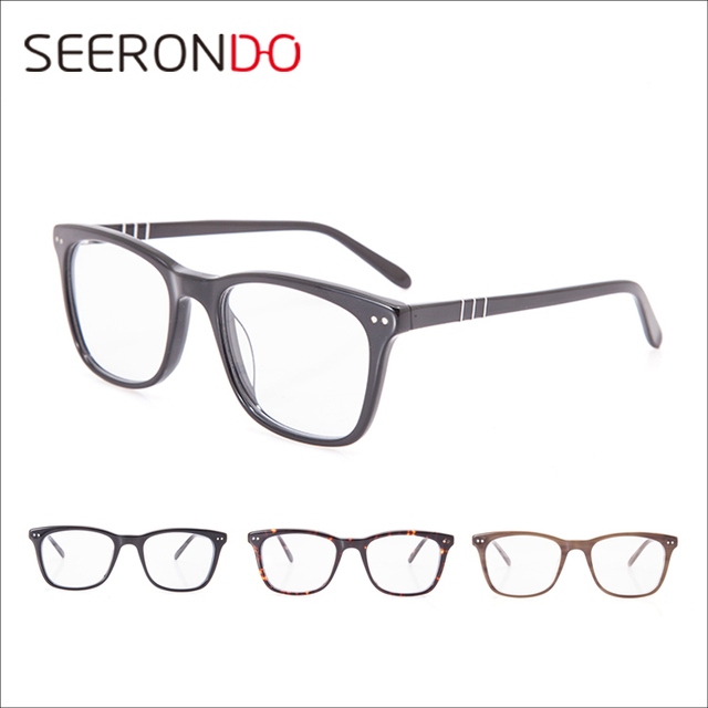 54540fd8d7d6 SEERONDO 2017 New Arrival China Wholesale Optical Eyeglass Frame Acetate  Spectacles