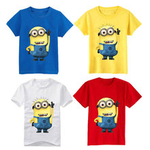 72368409 Cartoon figure children minions clothes costume children s clothing t shirts  for Kid s BOXXTY