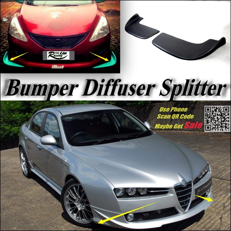 car splitter diffuser bumper canard lip for alfa romeo 159. Black Bedroom Furniture Sets. Home Design Ideas