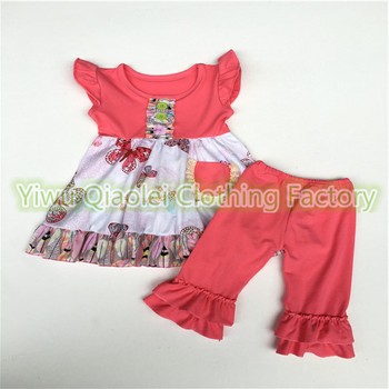 Wholesale high quality toddler girls fashion clothing the butterfly