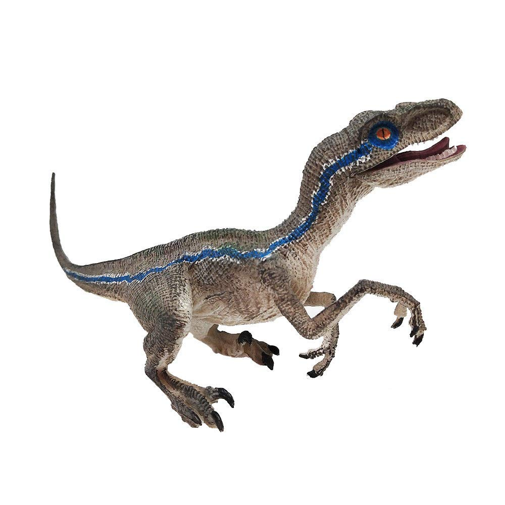 Euone Toys Clearance , Blue Velociraptor Dinosaur Action Figure with Base Animal Model Toy Collector