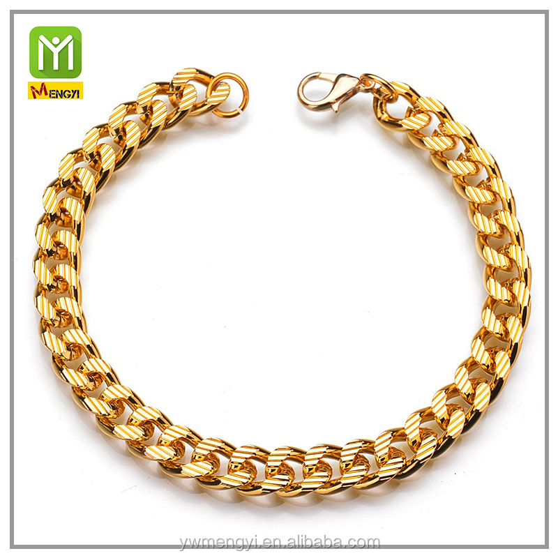 Wholesale 18K Gold Hip Hop Top Selling Thick Pave Chain Stainless Steel Bracelet For Men