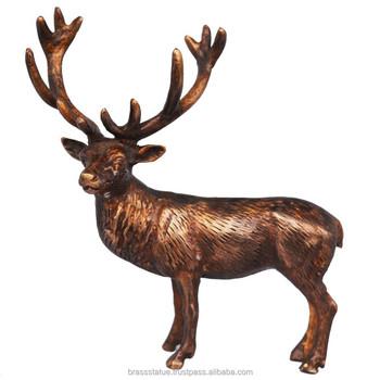 Reindeer Statue Brass Metal Made Christmas Gift Animal Figure - Buy Indian  Christmas Gifts,Unisex Christmas Gifts,Rare Christmas Gifts Product on