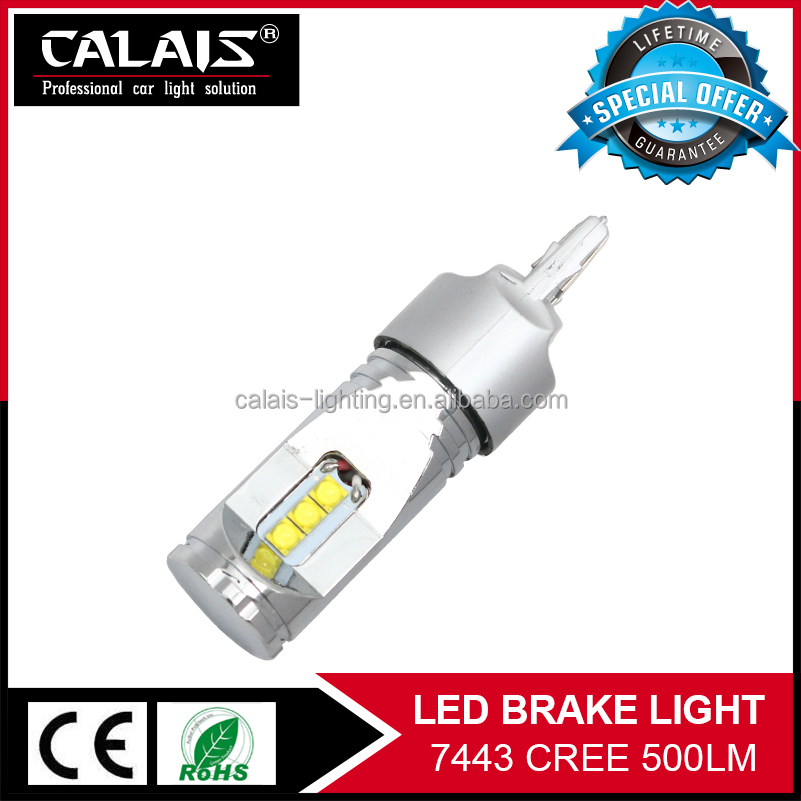 High power <strong>CREES</strong> 7000k cool white 7443 t20 w21/5w 12v 24v led car brake light bulb