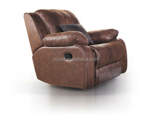 Sectional leather modern single recliner sofa