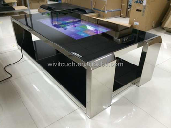 42 inch interactive tea game bar coffee stainless steel multi touch table with smooth. Black Bedroom Furniture Sets. Home Design Ideas