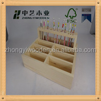 2016 year factory sale FSC&SA8000 Super quality gift wooden pencil holder for children