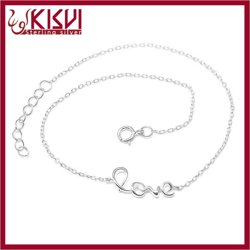Love forever bracelet 925 sterling silver jewelry Hot sale 2015 fashion Anklet