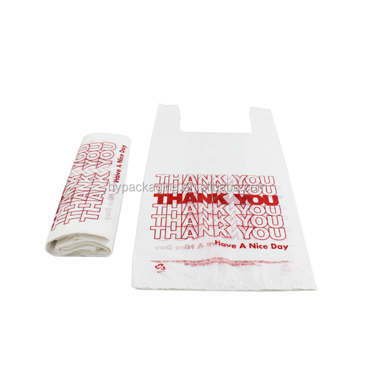 Factory Price 포장 Use 플라스틱 T-shirt Thank You Printed Shopping Bag