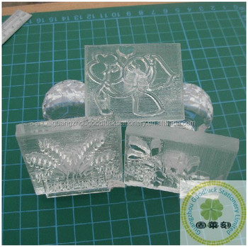 Goodluck Wholesale Clear Plastic Soap Stamp Acrylic Rubber Stamps