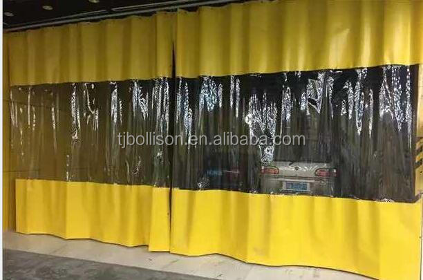 Custom Paint And Spray Booth Curtains Industrial Wash Bay