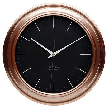 Traditional Indoor Kitchen Craft Copper Brushed Effect Plastic Wall Clock