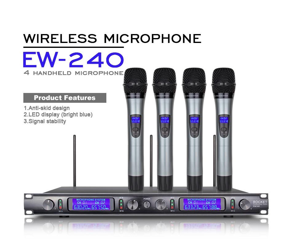 uk in stock uhf 4 metal handheld wireless microphone ew240 cordless mic system ebay. Black Bedroom Furniture Sets. Home Design Ideas