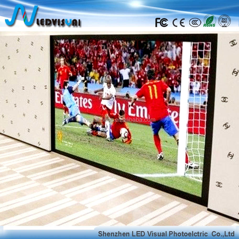High brightness indoor led advertising big TV display china led screen