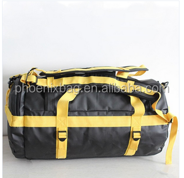 2016 hot sell sport duffels bags 500D waterproof tarpaulin duffel bags travel duffel bags