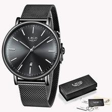 Часы LIGE женские, модные, водонепроницаемые, из нержавеющей стали, ультратонкие, повседневные, кварцевые(China)