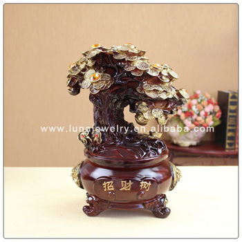 Resin Money tree with Chinese Coin