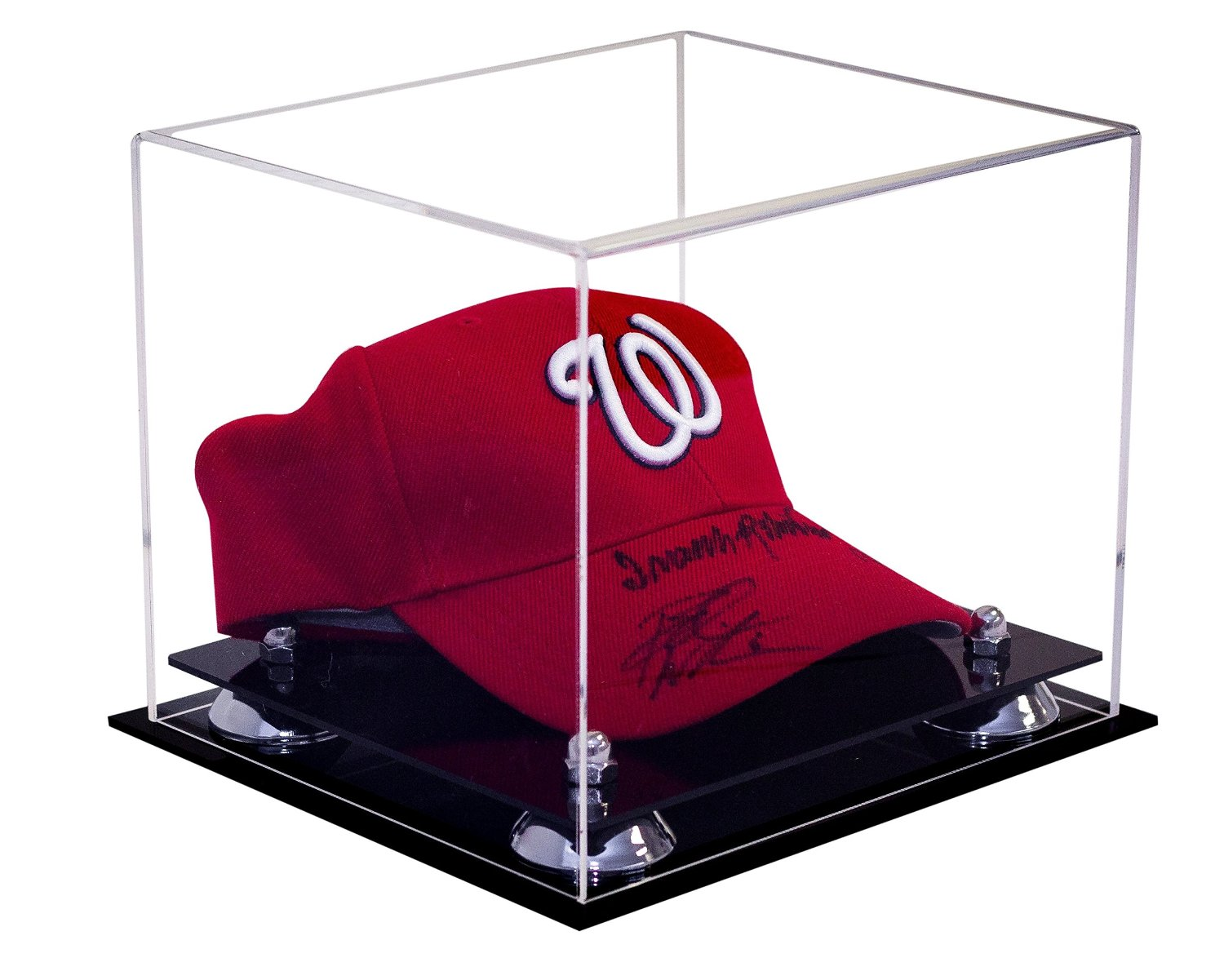 18a538f9140 Deluxe Acrylic Display Case for Collectible Sports Baseball Hat or Cap with UV  Protection