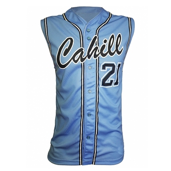 China cheap blank  sublimated embroidery baseball jersey