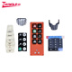 Waterproof TV Remote Control Conductive Silicone Rubber Keypad Button With Epoxy Resin Coating Key Cover