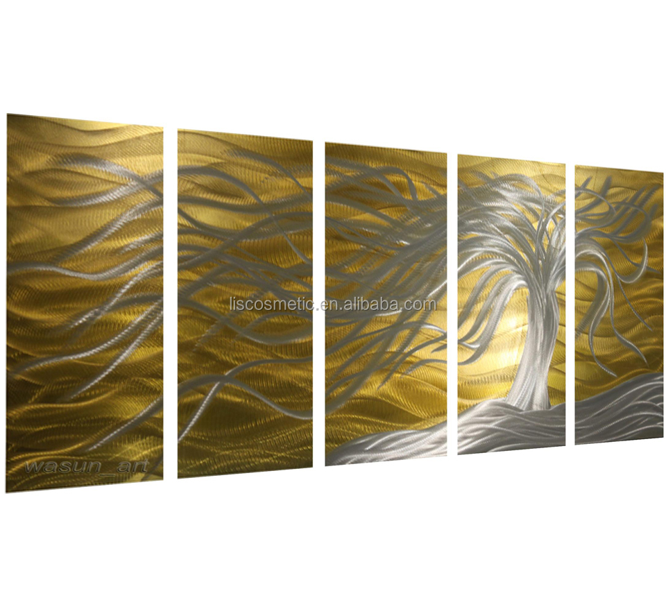 Newest Style Decorative Metal Wall Art, Modern Aluminium Print Painting