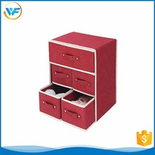 Custom Non Woven Square Five Drawers Foldable Drawer Organizers
