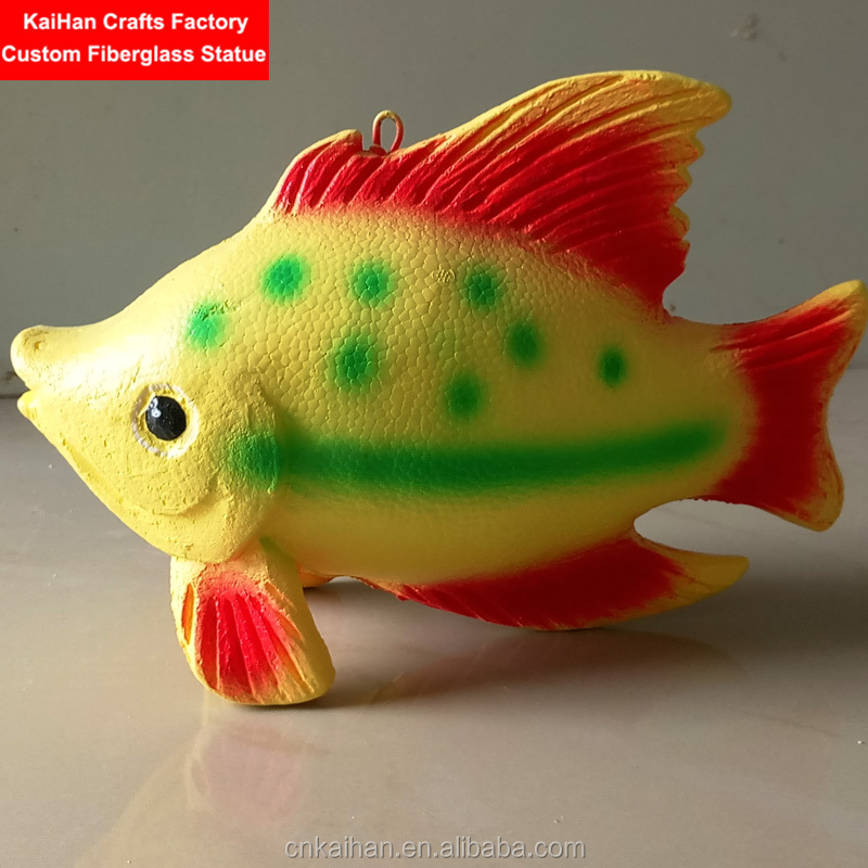 shopping mall ornament Styrofoam fish for hanging