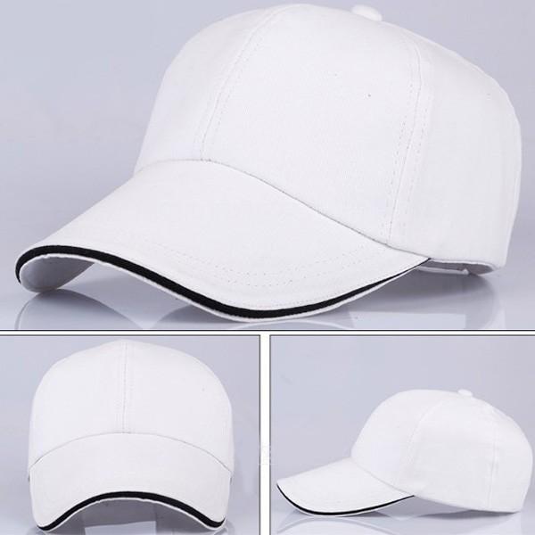 Uniseks Sandwich Putih Katun Topi Olahraga Polos Gaya Desain Anda Own  Bisbol Tutup 4c4b606ba8
