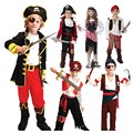 Boy Girl Children Kids Pirate Cosplay Costume Fancy Dress Buccaneer Outfit Birthday Party Halloween Children Day