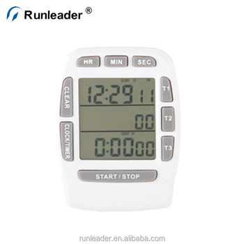 Runleader Digital Timer LCD Screen Cooking Magnetic Clock Kitchen 12 Hours With Stand