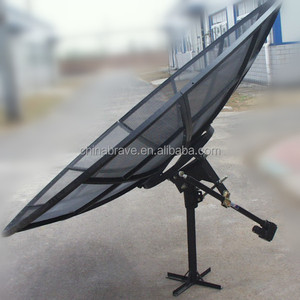 4ft feet 1.2m 120cm c band satellite hd digital outdoor aluminum mesh dish tv parabolic FTA antenna