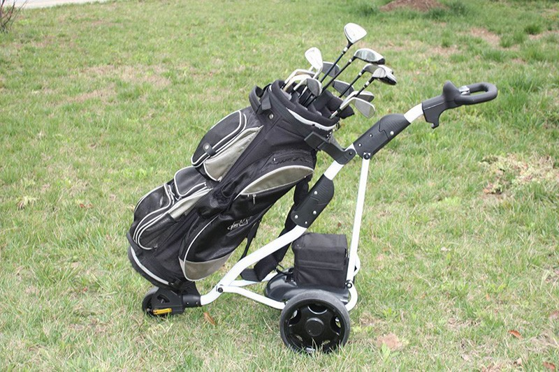 China manufacture portable easy caddy golf trolleys with CE approval DG12150-D