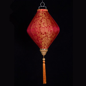 Wax gourd shape lantern vietnam fabric lantern new year hanging lantern