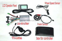 36V 500W ebike Controller+LCD panel+ Throttle+Speed sensor+padel+sensor+box for controller